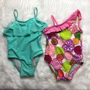 3T girls swimsuit bundle lot of 2 bathing suits